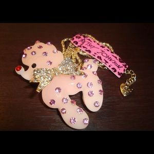 BETSEY JOHNSON~ Pink Poodle Necklace